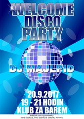Welcome disco party No. 1